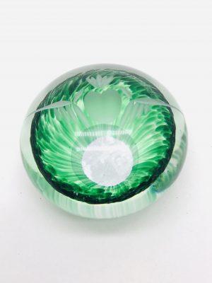 Green Claddagh Glass Paper Weight