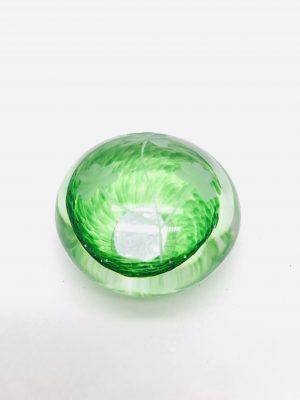 Green Shamrock Glass Paper Weight