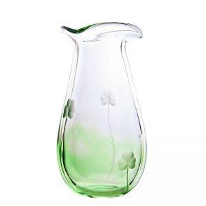 Irish Shamrock Large Glass Vase