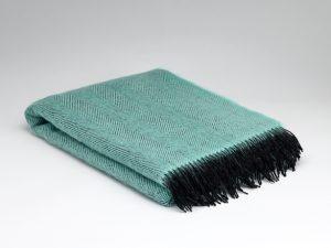 McNutt Mint Herringbone Blanket Throw