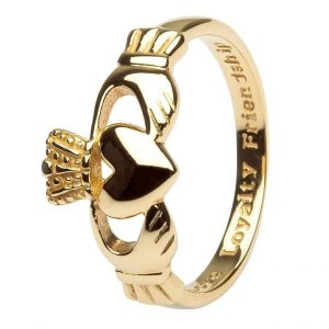 Shanore Mens 10K Gold Claddagh Ring