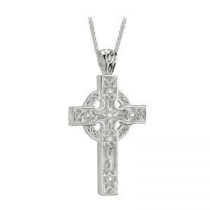 'Solvar Silver Heavy Celtic Trinity Knot Cross s4797