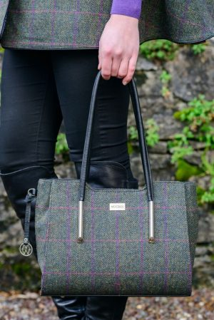 Mucros Green Check Brid Bag