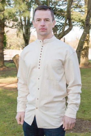 Civilian Linen Grandfather Shirt