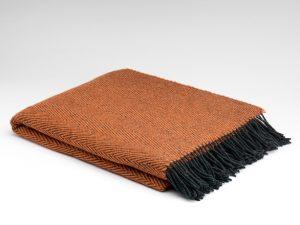 McNutt Pumpkin Herringbone Blanket