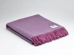 McNutt Pink Lavender Herringbone Blanket