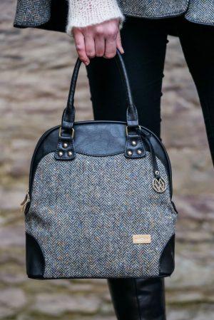 Mucros Gray Herringbone Abbie Bag