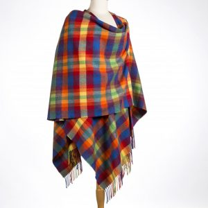 John Hanly Multi Color Lambswool Liz Cape