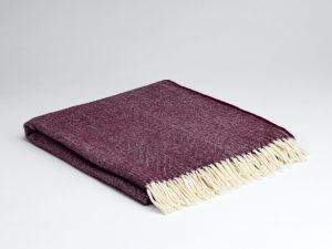 McNutt Burgundy Herringbone Supersoft Blanket