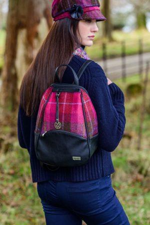 Mucros Pink Check Colleen bag