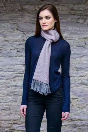 Mucros Pink Gray Dingle Scarf