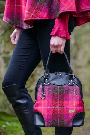 Mucros Pink Check Abbie Bag