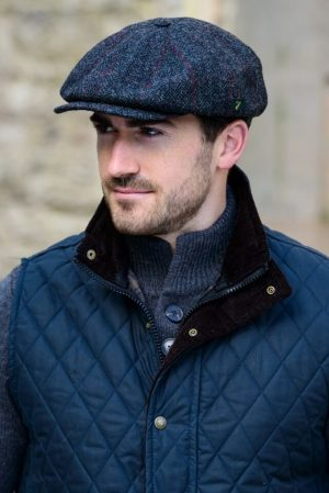 Mucros Charcoal Driving Cap