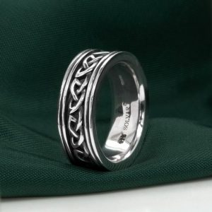 Solvar Gents Celtic Silver Band s21073
