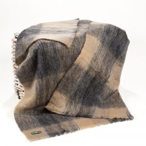 John Hanly Beige Grey Throw