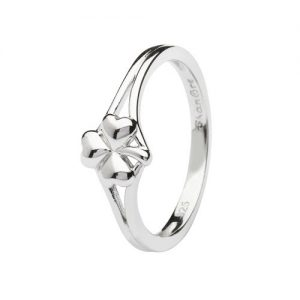 Shanore Sterling Silver Shamrock Ring