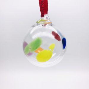 Irish Glass Christmas Wildflower Bauble