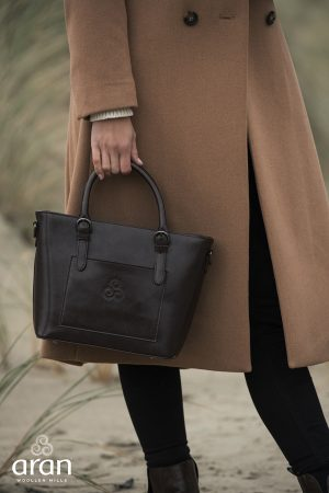Aran Woollen Mills Leather Tote Bag