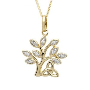 Shanore 14K Diamond Tree of Life Pendant