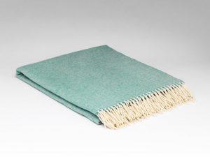 McNuttSpearmint Herringbone Blanket