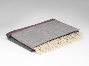 McNutt Charcoal And Pink Stripe Pashmina Wrap