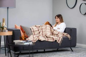 Foxford 3 Colour Windowpane Throw