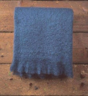 Foxford Hague Blue Mohair Throw