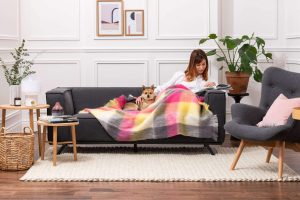 Foxford Urban Check Mohair Throw