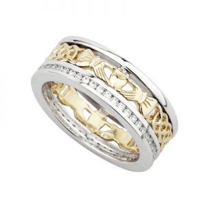 Solvar 14K Diamond Claddagh Band S2986