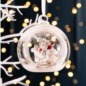 Galway Living Santa's Sleigh Hanging Bauble