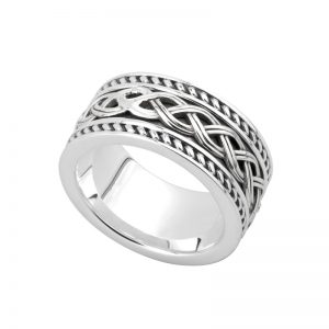 Solvar Gents Silver Celtic Knot Ring S21048