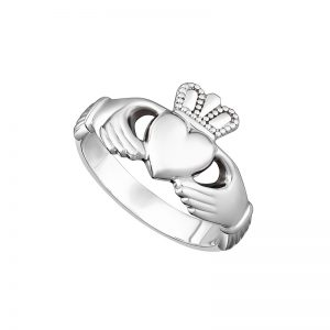 Solvar Sterling Silver Heavy Maids Claddagh Ring S2543