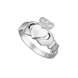Solvar Sterling Silver Maids Claddagh Ring S2280