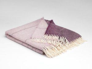 'Mcnutt Mauve Ómbre Alpaca Blanket Throw