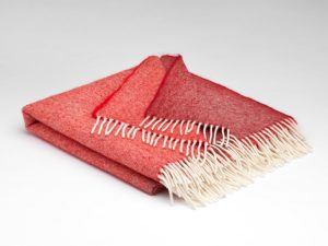 Mcnutt Rusty Red Ómbre Alpaca Blanket Throw