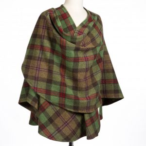 John Hanly Green Check Sue Cape 604