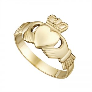 Solvar 9K Gents Claddagh Ring S2232