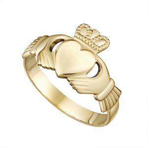 Solvar 10K Gents Claddagh Ring S2529
