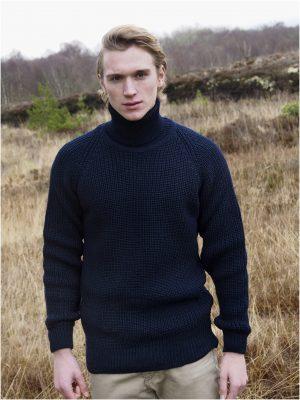 Submariner Rib Roll Neck Irish Sweater