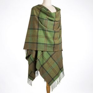 John Hanly Green Check Liz Cape 618