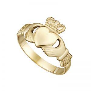 Solvar 10K Ladies Claddagh Ring S2526