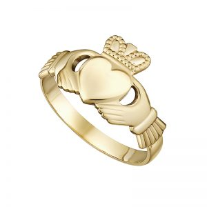 Solvar 10K Maids Claddagh Ring S2525
