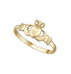 Solvar 10K Mini Claddagh Ring S2987