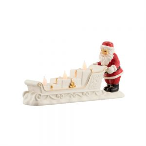 Belleek Living Santa And Sleigh Centrepiece