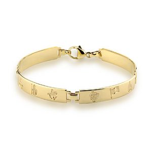 History Of Ireland 14K Ladies 4 Link Bracelet S5505