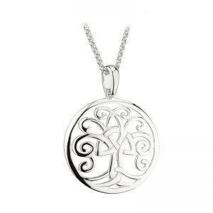 Solvar Sterling Silver Celtic Tree Of Life Pendant S46472