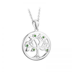 Solvar Sterling Silver Crystal Tree Of Life Pendant S46473