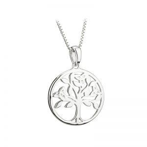 Solvar Sterling Silver Tree Of Life Pendant S46479