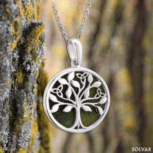 Solvar Connemara Marble Tree Of Life Pendant