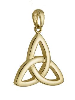 Solvar 14K Gold Large Trinity Knot Charm S8769
